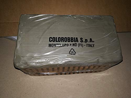 Argilla modellabile creta rossa blocco Colorobbia maiolica da modellare panetto da 12,5 kg per terracotta e ceramica (1PZ)