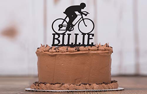 Personalized Cyclist Cake Topper