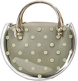 TOOGOO Women'S Fashion Dot Transparent Saddle Bag Transparent Jelly Handbag Pu Composite Messenger Bag Green