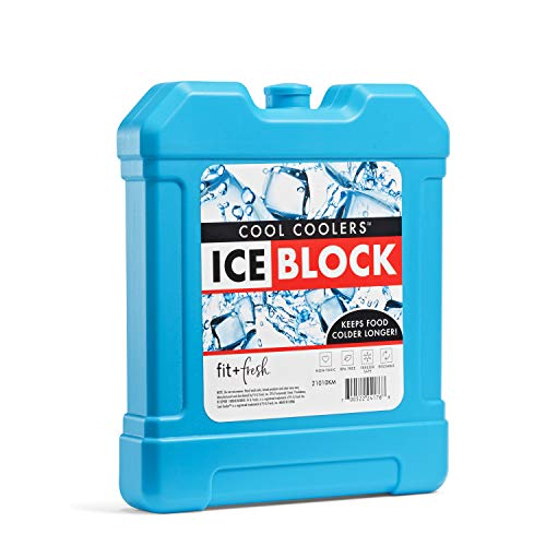 Fit + Fresh Cool Coolers Freezer Ice Block for Lunch Boxes, Beach Bags, Coolers or Picnic Baskets, 1 pack