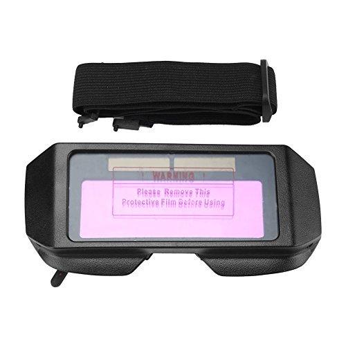 Gafas de Soldador de Oscurecimiento Automático Solar Máscara de Seguridad para Soldador Negro
