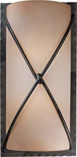 Minka Lavery Wall Sconce Lighting 1975-1-138, Aspen II Glass Damp Bath Vanity Fixture, 2 Light, 200 Watts, Bronze