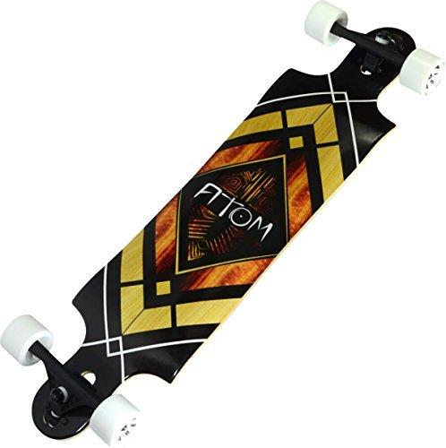 Atom Longboards Drop Through Longboard - Double Drop - 38, Woody Diamond by