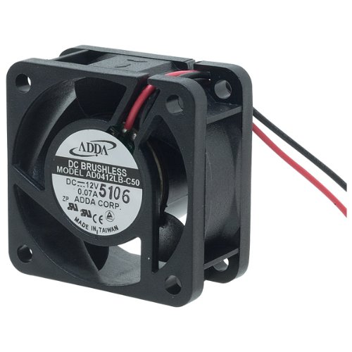 Professional Grade Products AD0412LB-C50 DC-Fan, Ball Bearing, Lead Wire, 12V, 6.99 CFM, 40 mm x 40 mm x 20 mm