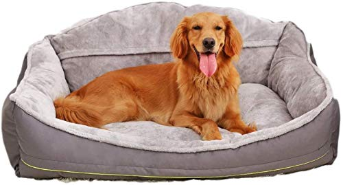 Huisdier nest Orthopedische hondenmand pluche PP Cotton gezonde en zachtaardige hond Nest Pet Bed afwasbaar en niet-Slip Large Dog Bed, hok (Size : S)