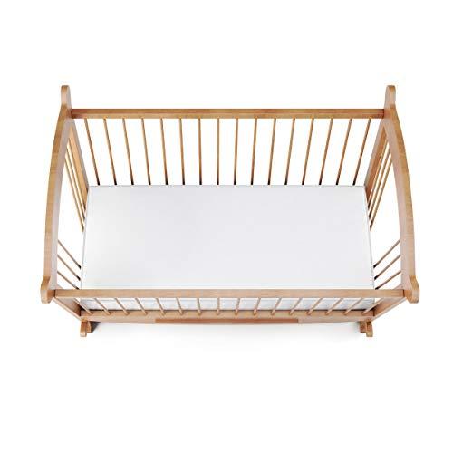 Terre de Nuit Drap Housse Jersey Blanc pour lit bébé 100% Coton 70x140