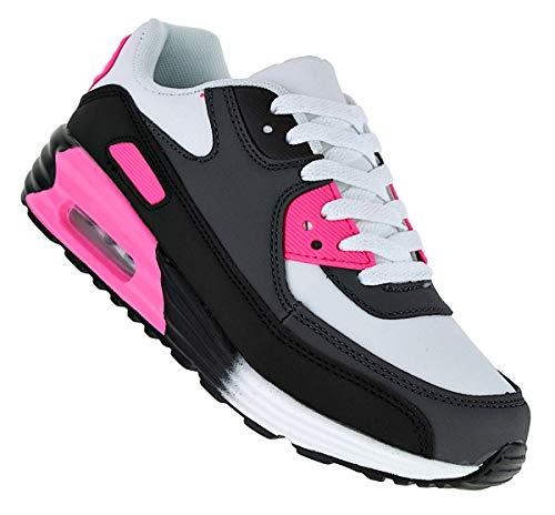 Bootsland 137 Neon Turnschuhe Schuhe Sneaker Sportschuhe Neu Damen, Schuhgröße:38