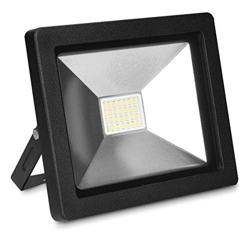 kwmobile LED Flutlicht Baustrahler 20W - Arbeitsleuchte Strahler mit 3m Netzkabel und Stecker - Garten Scheinwerfer LED-Strahler - Baustellen Lampe