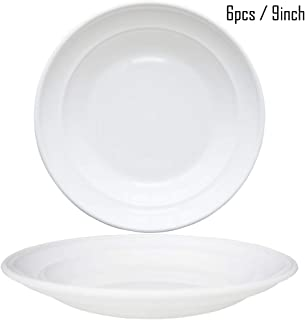 6pcs/9'' Dishwasher & Microwave Safe PP Plates - Lightweight & Unbreakable,Non-toxin, BPA free and Healthy for Kids Children Toddler & Adult