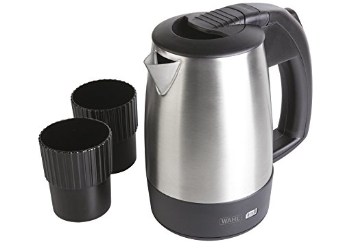 Wahl Travel Kettle with Cups, Portable Kettles, 0.5 Litre Small Kettle, Stainless Steel, Electric Water Heater, Boil Water On-the-Go, Ideal for Hiking and Camping