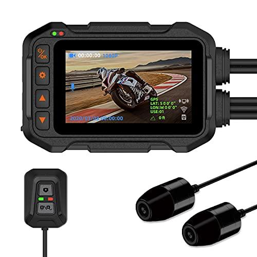 Motorcycle Dashcam Camera Motowolf M8 Waterproof 1080P Dual Lens 155° Wide Angle Dash Cam DVR...