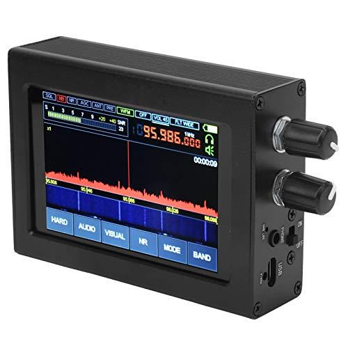 Ricevitore SDR HAM, 50Khz-200Mhz Lega di alluminio Wireless Malahit DSP Ricevitore SDR Malahit SDR Ricevitore radio ad onde corte Ricevitore Malachite DSP SDR con schermo tattile da 3,5 pollici