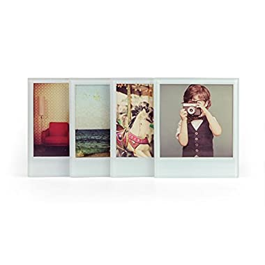 Mustard Glass Coasters Set Personalize Your Drinks Mat - Instant Photo