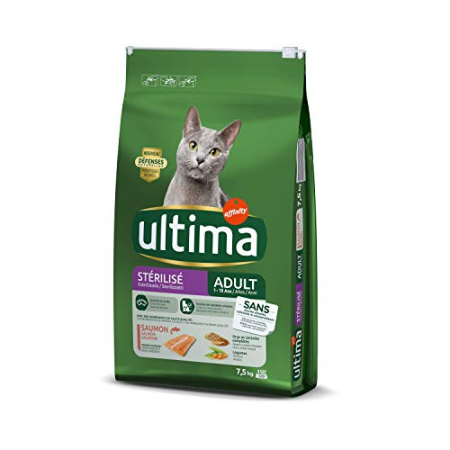 Ultima Pienso para gatos esterilizados adultos con salmón - 7.5 kg