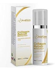 COLLAGEN RETINOL ANTI AGING GEZICHTSCRÈME Door JeaKen - Gezichtsbevochtiger voor mannen en Moisturizer Gezichtsvrouwen - Retinol Gezichtscrème voor de droge huid met hyaluronzuur - 50 ml