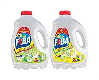 سائل غسيل الاطباق برائحة الليمون من فيبا، قطعتين - 4 كجم