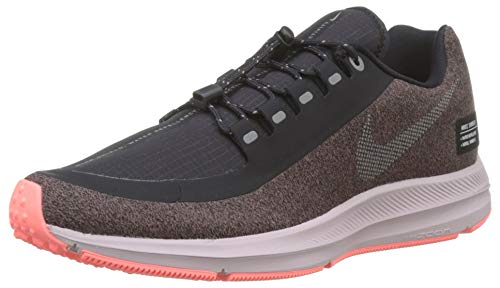 Nike Damen Zm Winflo 5 Run Shield Laufschuhe, Violett (Smokey Mauve/MTLC Silver/Oil Grey/Particle Rose/Black 200), 38 EU