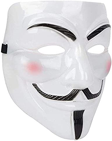Vendetta Mask- Halloween Scary Costume Accessories for Carnival Masquerade Parties Themed Party Halloween