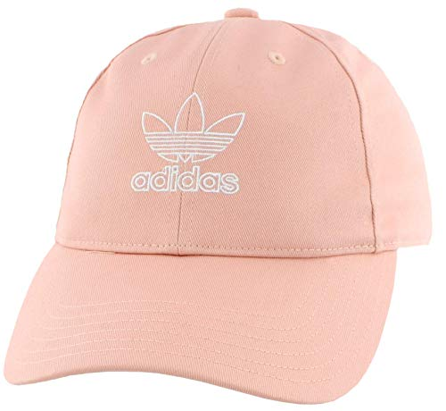 adidas Women's Originals Outline Logo Relaxed Adjustable Cap, Dust Pink/White, One Size