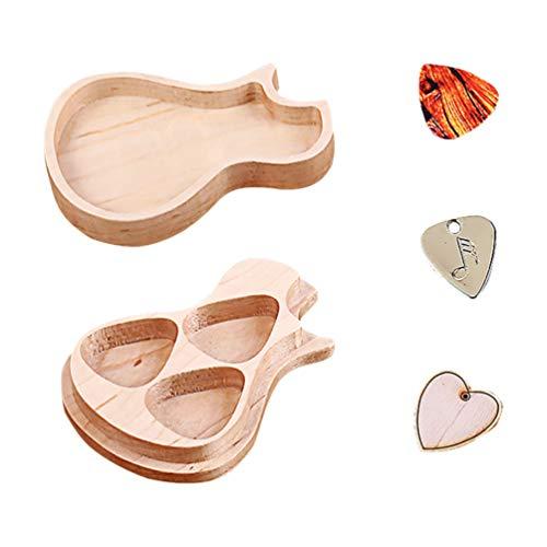 EXCEART 1 Set (Holz Gitarre Plektrum Box Guitar Plektrum Box Plektron Box mit Gitarrenplektrum für Gitarre Standard Plektrum)