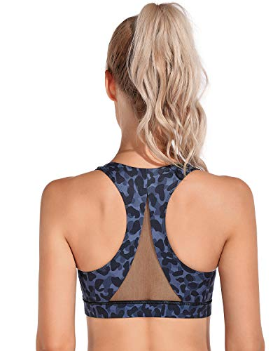 OMANTIC. Sujetadores deportivos con la espalda cruzada, para mujer, soporte medio, para yoga, correr, gimnasio, fitness - - XXL