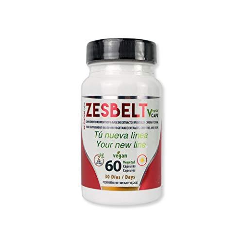 Zafire ZesbeltCaps, Termogénico y Quemagrasas. Complemento alimenticio a base de extractos vegetales, Capsaicina + Cafeína + Colina. Elimina la retención de líquidos. 60 cápsulas