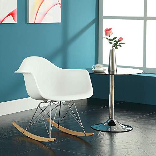 HELIn Creative schommelstoel balkon eenvoudige casual Scandinavische massief hout borstvoeding stoel ontwerper stoel Kleur: wit