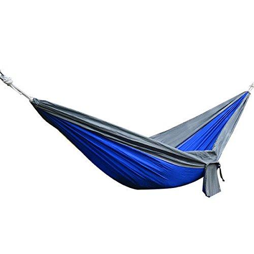 ZHANGNING Hamaca con mosquitera Cama oscilante de 270x140cm de Hamaca de 270x140cm, Carga máxima de Carga 250 kg Hamaca aérea de Camping (Color : Blue)