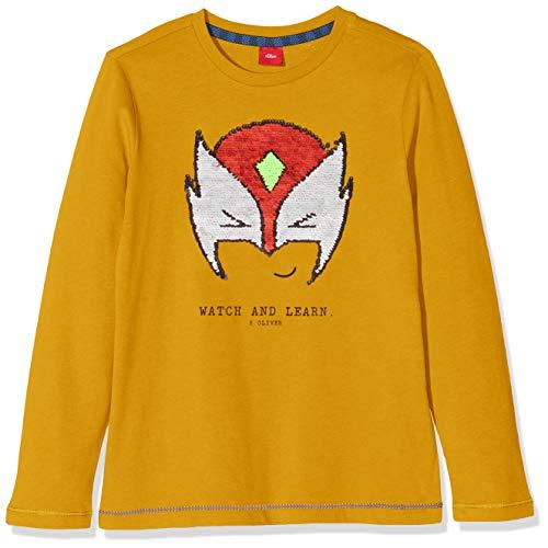 s.Oliver Jungen 63.909.31.8856 T-Shirt, Gelb (Dark Yellow 1549), 92/98 (Herstellergröße: 92/98/REG)