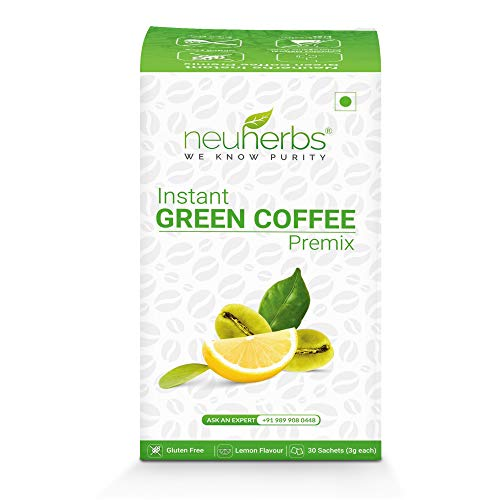 Neuherbs Instant Green Coffee Premix for Weight Management: 30 Sachet