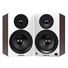 RAW POWER MEETS SUBLIME SOUND - Experience true stereo sound with these high performance active bookshelf speakers with an integrated 100W Class D amplifier designed to deliver a crisp, deep and accurate response TRUE AUDIO VERSATILITY - Level-up any...