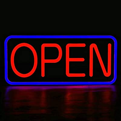 MaxLit 24'' X 12' New Ultra Bright LED Neon Sign - OPEN - Remote Controlled