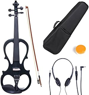 Cecilio 4/4 CEVN-1BK Solid Wood Electric/Silent Violin with