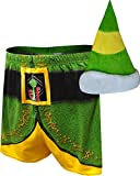 Buddy the Elf Christmas Boxers and Elf Hat, Small Green