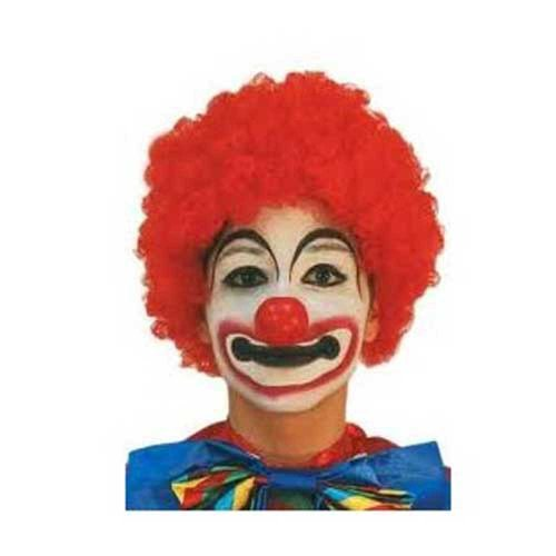 Perruque de clown - couleur rouge