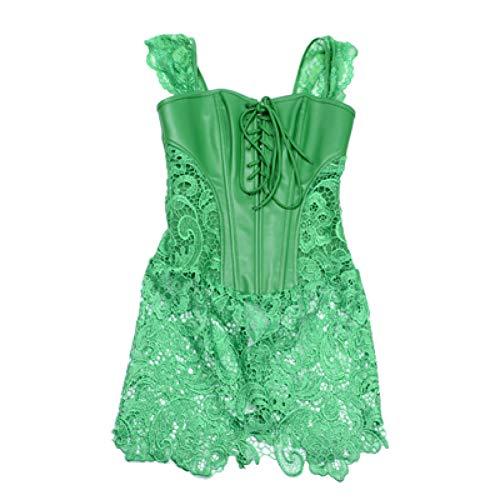 SGORTKRJ korset vrouwen bustier steampunk corset jurk gothic Pu korset afslanken intieme gothic kleding