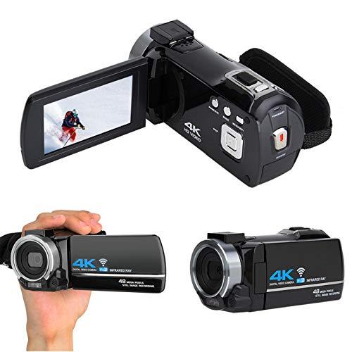 Aukson Cámara Digital, cámara Digital 4K Ultra HD con Zoom 16X EIS electrónico antivibración Retrato Nocturno/Playa/Deportes/Banquete