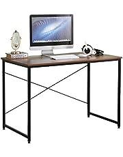 SogesHome Escritorio, Mesa de Ordenador,Escritorio para ordenador,110 x 60 x 75 cm, para Estudio, Oficina, Montaje Simple, Diseño Industrial, 110 x 60 x 75 cm,SH-CZJYB-SJ01
