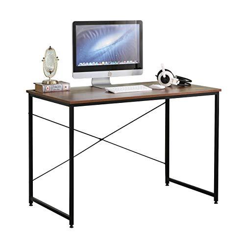 sogesfurniture Scrivania per computer Scrivania per scrivania Scrivania per PC Tavolo per laptop Tavolo da studio per ufficio a casa, 110x60x75cm BHEU-CZJYB-SJ01-1