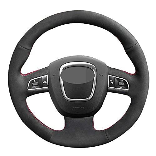 NIUASH Accesorios Interiores de la Cubierta del Volante del Coche, para Audi A3 8P Sportback A4 B8 Avant A8 D3 A6 C6 A5 8T Q5 8R Q7 4L S4 S3