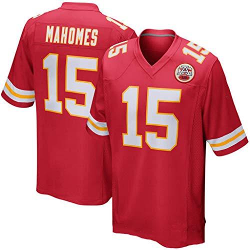 cjbaok NFL-Trikot Kansas City Chiefs Team 10# 15# 87# -Trikot Fan Edition-Stickerei-T-Shirt Sport-Kurzarm-Oberteil,Red-15,S