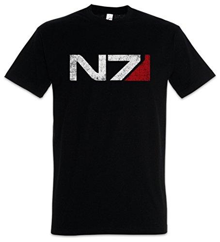 Urban Backwoods N7 Logo Herren T-Shirt Schwarz Größe L