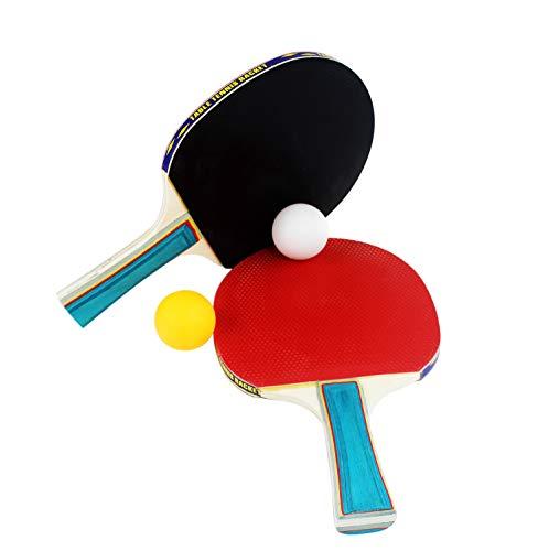 1MI STORE Kit Palas Ping Pong, 2 Raquetas Tenis de Mesa 2...