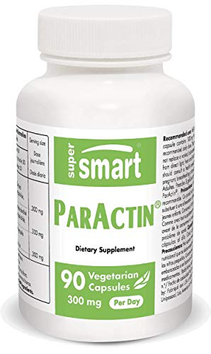 Supersmart - ParActin ® 300 mg Per Serving - Reduce Redness & Pain - Anti Inflammatory Properties | Non-GMO & Gluten Free - 90 Vegetarian Capsules