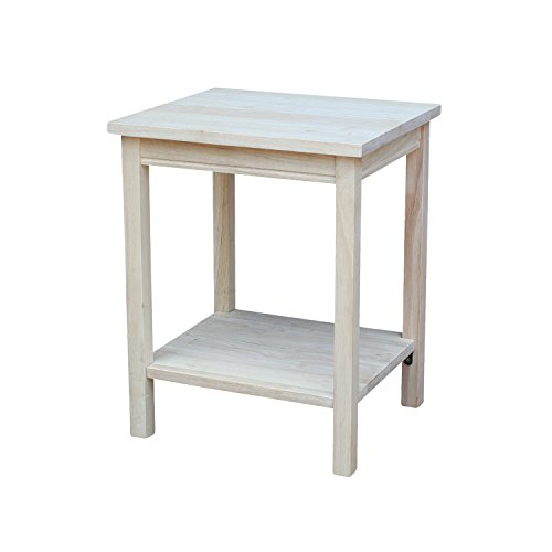 International Concepts Accent Table, 14 L x 16 W x 20 H inches, Unfinished (Kitchen)