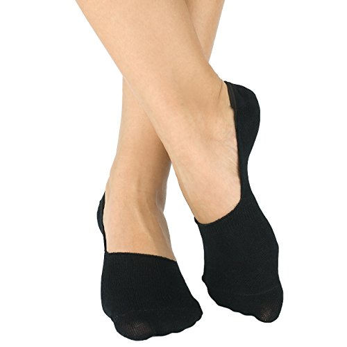 Bambus Füsslinge - Damen & Herren - Sneaker - Kurze Socken - 6 Paar (43-46, Schwarz)