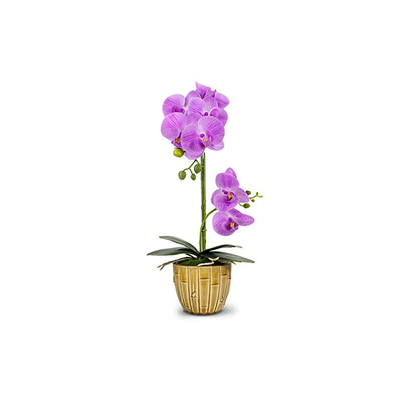 silk flower arrangements dahlia natural looking artificial orchid plant with ceramic pot flower arrangement