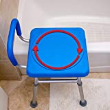 Sit-Don't Trip. Roundabout™ Rotating Bathtub Transfer Seat. Safer Than Tub Safety Rail or Grab Bar Assist Handle. Ideal for Elderly, Seniors, Handicap and Disabled. The SAFEST Way to Step into a tub.