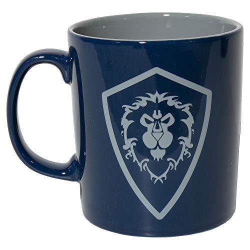 JINX World of Warcraft For The Alliance Taza de café de cerámica, azul marino, 11 onzas