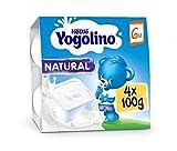 Postre lácteo - NESTLÉ YOGOLINO Natural - Para bebés a partir de 6 meses - Paquete de 4 tarrinas de postre lácteo de 100g